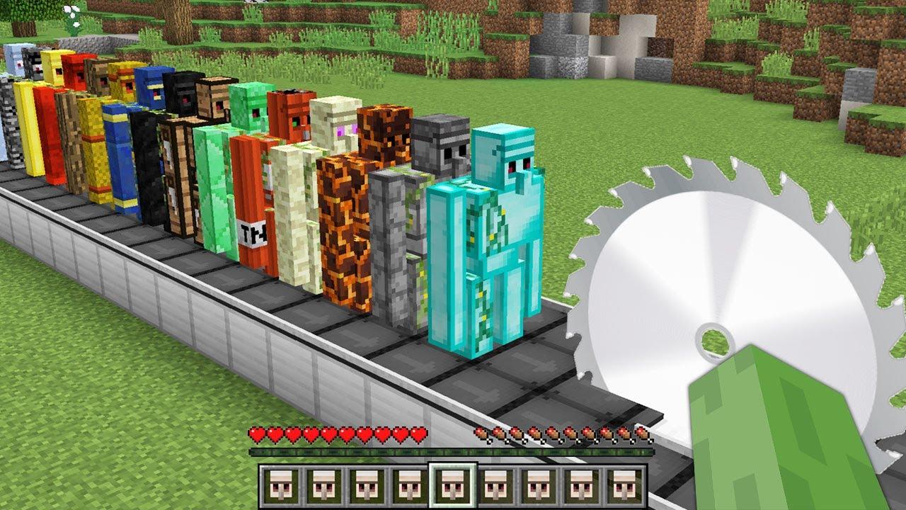 1000 GOLEM VS TESTERE 😱 - Minecraft