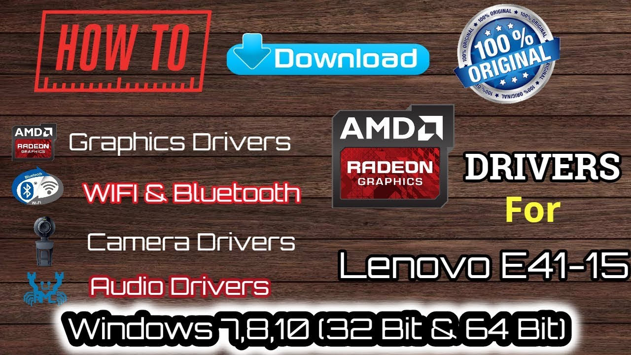 How To Download Original Drivers For Lenovo E41-15 In Windows 7,8,10 (32  bit & 64 bit ) in Tamil