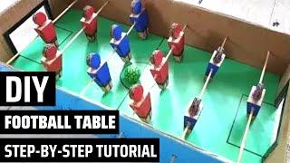 How to make a DIY FOOTBALL TABLE GAME| Homemade foosball tutorial