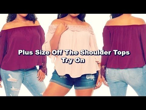 Plus Size Off The Shoulder Tops Try On