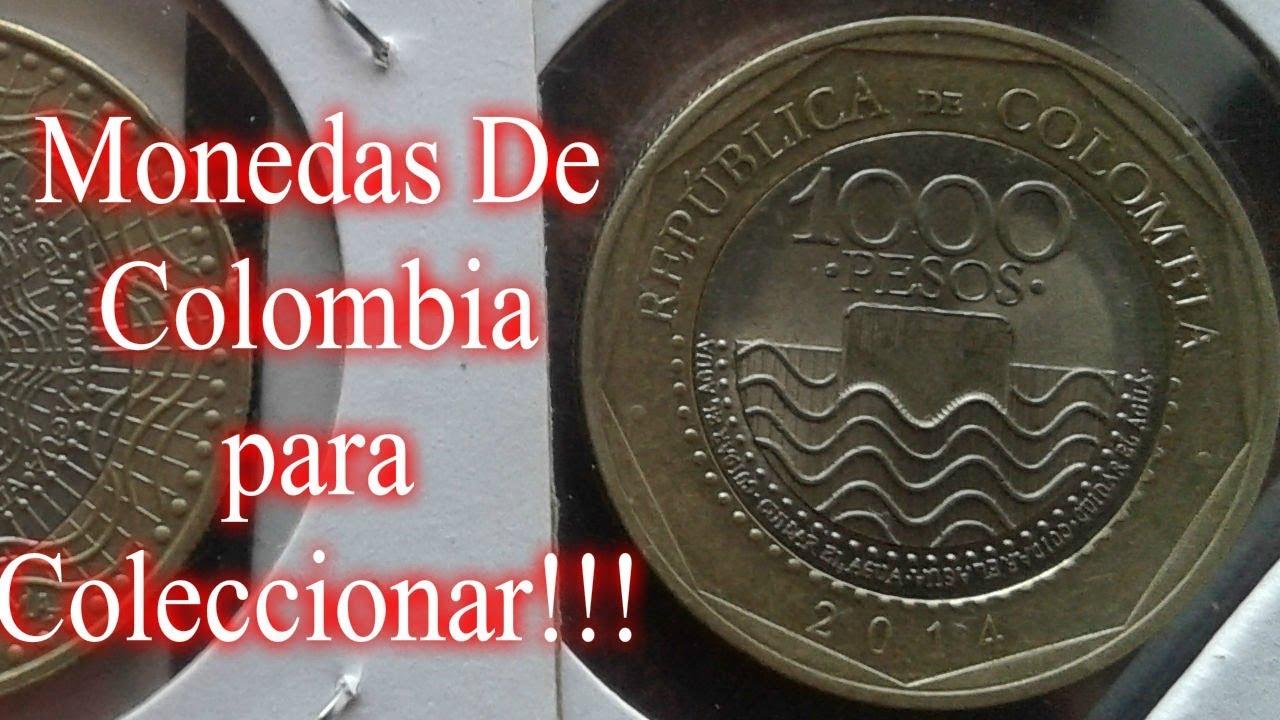 1000 Pesos De Colombia Monedas Para