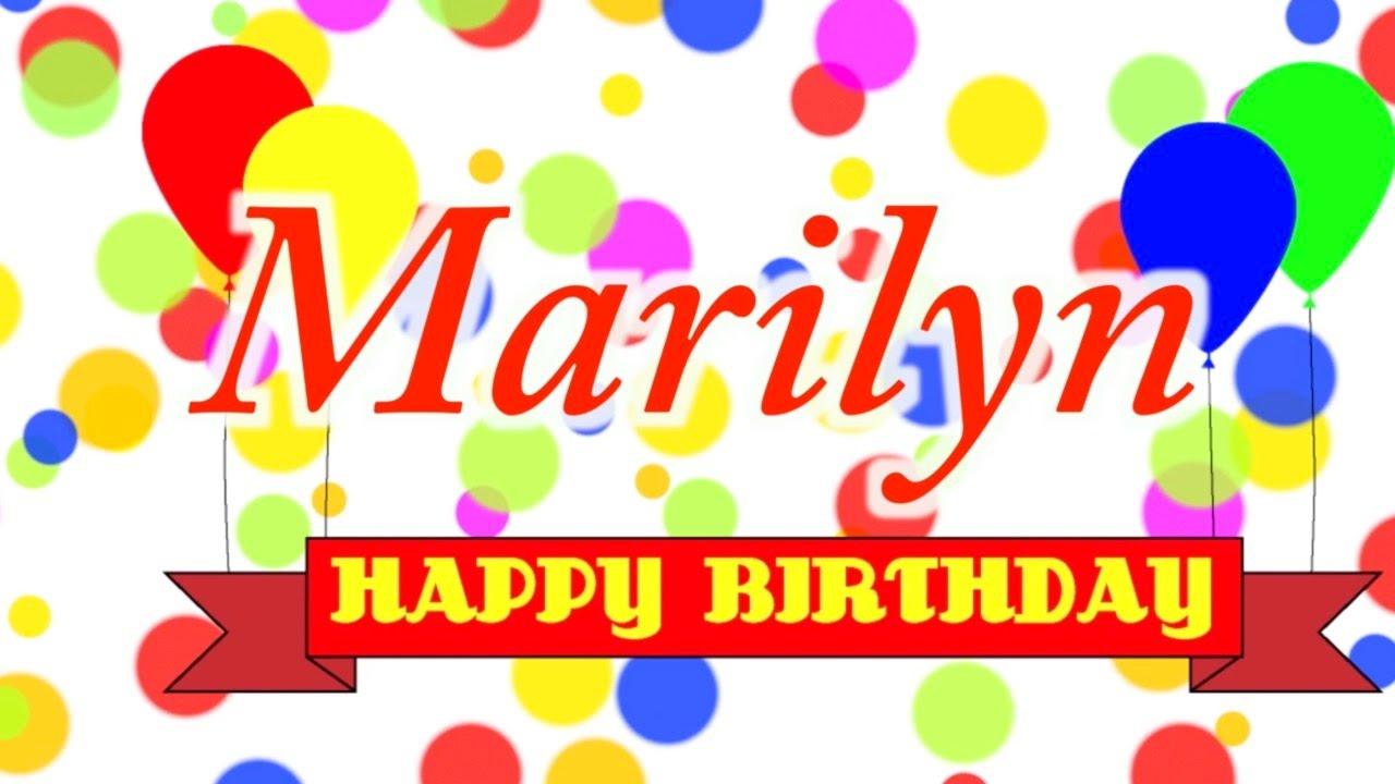 Happy Birthday Marilyn Song