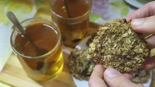 Полезное овсяное печенье из хлопьев без муки, масла и сахара за 10 минут. Быстро и Полезно