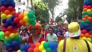 LGBT PRIDE MARCH PARADE NYC 2018 - LGBT PARADE MARCHES IN THE WEST VILLAGE STREETS MANHATTAN