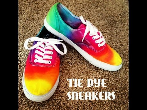 DIYTie Dye Sneakers!YouTube