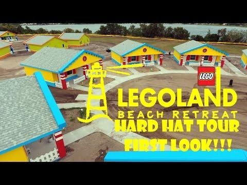 LEGOLAND Florida Beach Retreat FIRST LOOK Hard Hat Tour & Interviews!