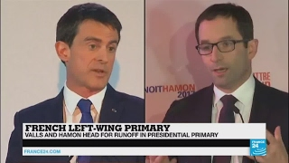French left wing primary    2 men with 2 very different projects