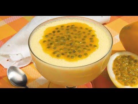 Mousse de maracujá cremoso sem gelatina