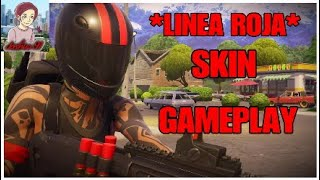 NEW SKIN *RED LINE* GAMEPLAY FORTNITE Battle royale