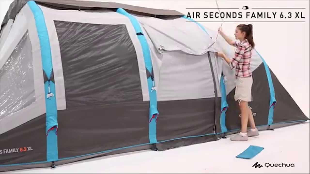 Quechua  Tenda Air Seconds Family 6 3 XL  YouTube