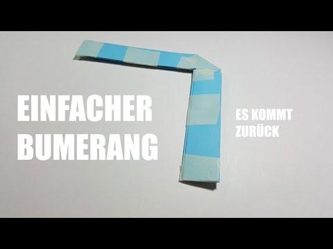 Wie Man Einen Papier Bumerang Macht U Form Youtube