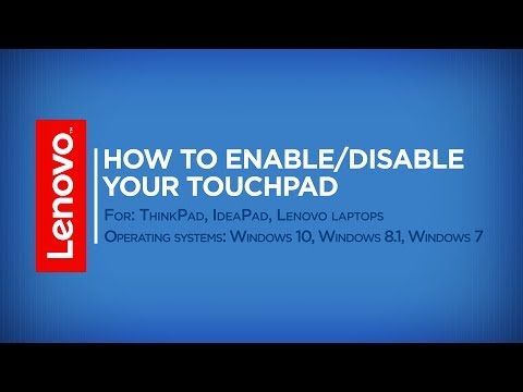 How To - Enable / Disable Your Touchpad