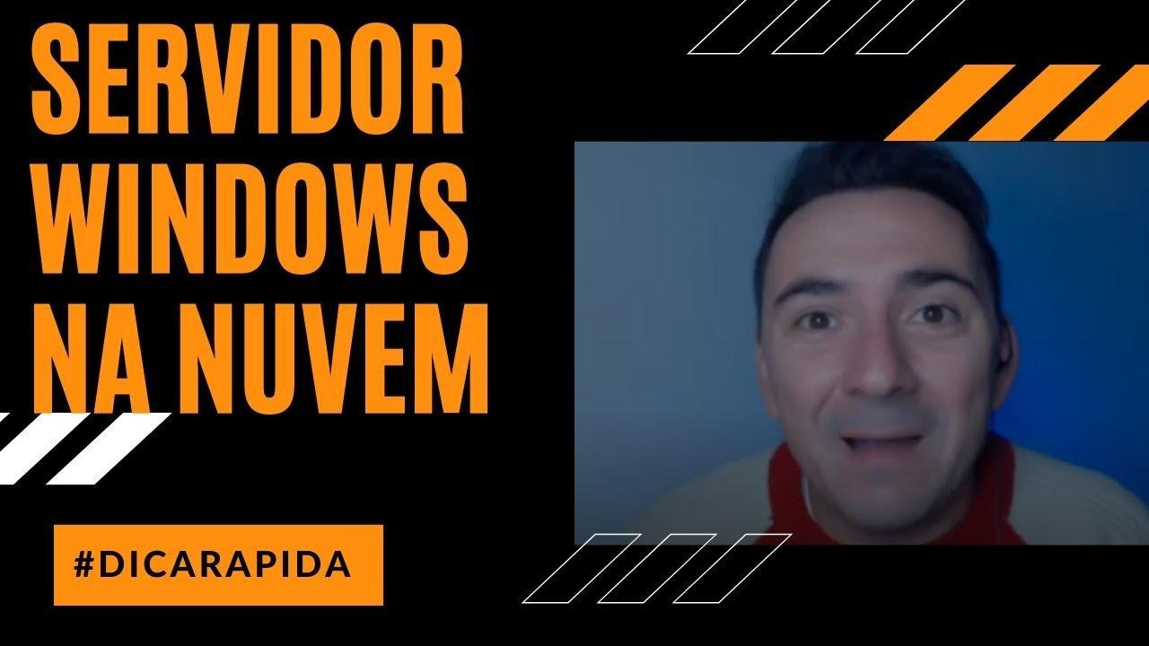 CRIANDO UM SERVIDOR WINDOWS GRÁTIS NA NUVEM DA AWS