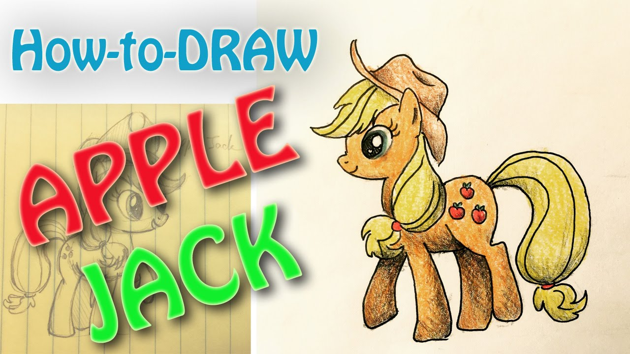 How To Draw My Little Pony Applejack Easy Youtube