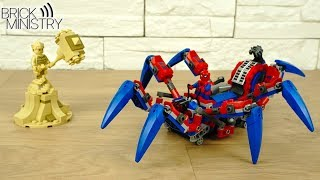 тарантайка паука VS Песочница  LEGO Spider Man 76114 Обзор