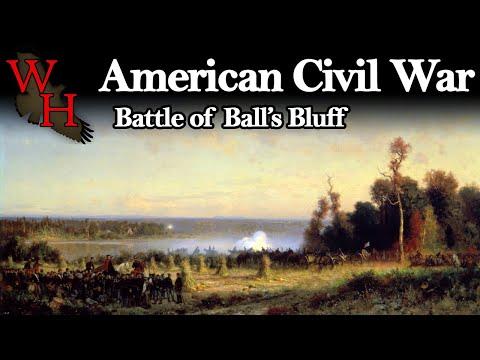 """American Civil War: Battle of Balls Bluff - """"A Little Short of Boats"""""""