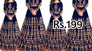 Buy Party Wear Gown Rs.199 /- …