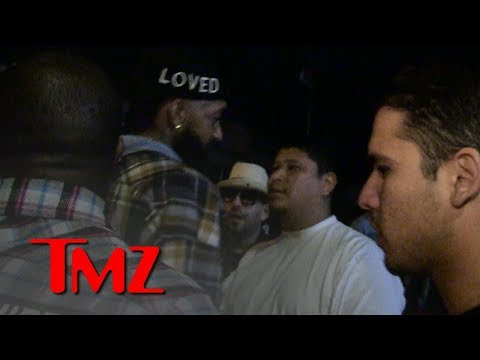 Nipsey Hussle Shouts Out Girlfriend Just Before The Crazy Fight | TMZ