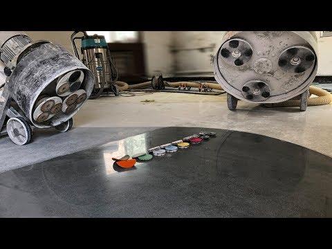 How to grinding and polishing Epoxy Terrazzo Mix Glass Floor?