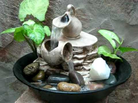 Fuente de agua feng shui doble caida vasija rota for Fuente agua feng shui