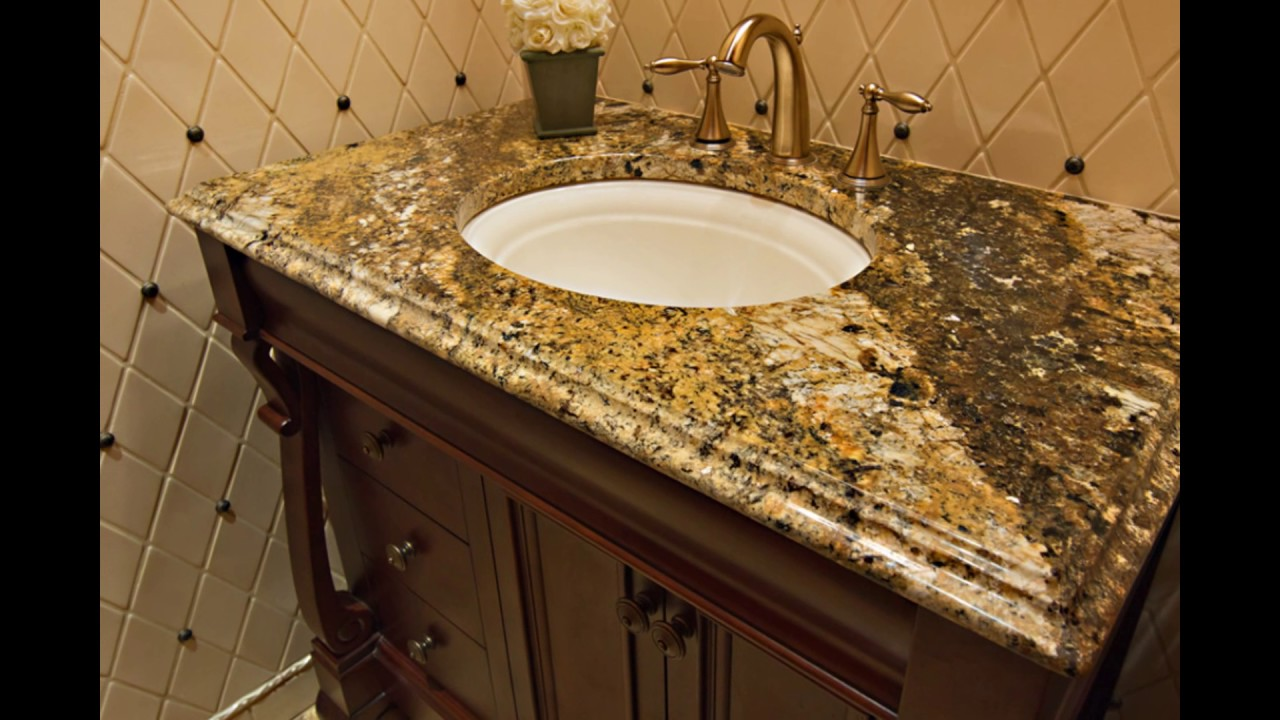 Granite For Bathroom Vanity granite bathroom vanity countertops - youtube