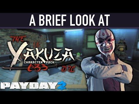 A brief look at The Yakuza Character Pack DLC. [PAYDAY 2]