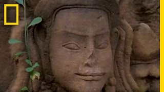 Journey to the ancient religious complex of Angkor Wat in the jungl...