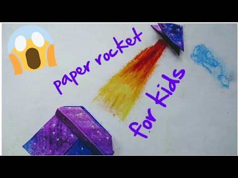Easy Diy ideas for kids/how to make paper rocket