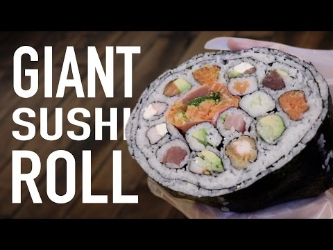 DIY GIANT SUSHI ROLL