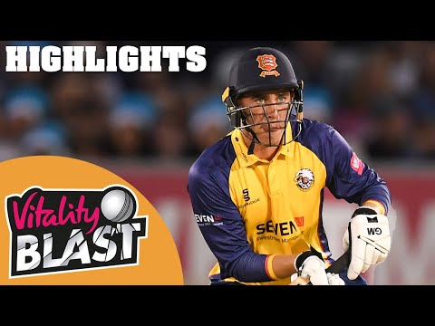 Sussex v Essex | Amir, Lawrence & Bopara Lead Eagles to Win | Vitality T20 Blast 2019 - Highlights