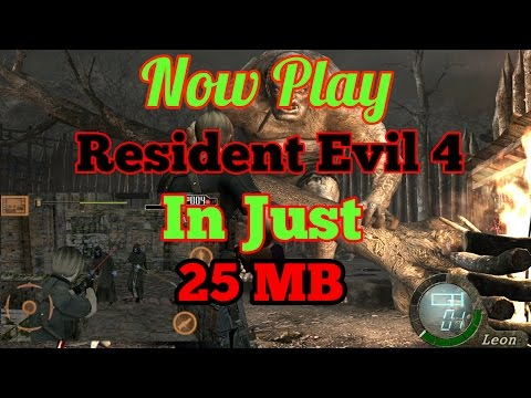 How to download Resident Evil 4 in just 25 MB for android
