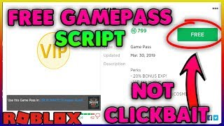 Any Gamepass FREE Roblox Script [WORKING] [30-March-19]