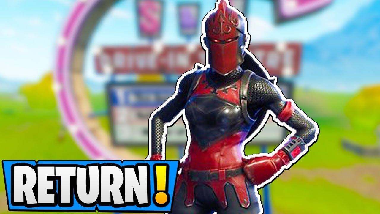 fortnite the red knight return date official skin release pickaxe gameplay - red knight fortnite gif