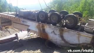 Достают фуру в Иркутской области