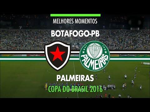 Melhores Momentos - Botafogo-PB 1 x 0 Palmeiras - Copa do Brasil - 21/09/2016
