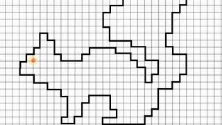 Белка (графический диктант по клеточкам), рисуем по клеточкам  белку