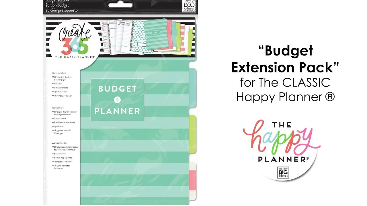 'Budget' Extension Pack - Happy Planner™ Preview- CLASSIC