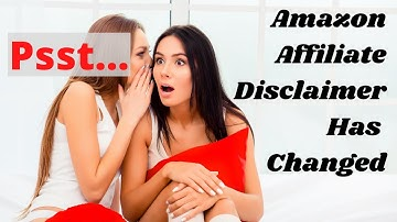 Amazon affiliate disclaimer   You NEED to watch this or you could be in hot water with the FTC