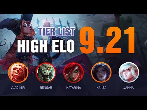 LoL HIGH ELO Tier List Patch 9.21 by Mobalytics - League of Legends