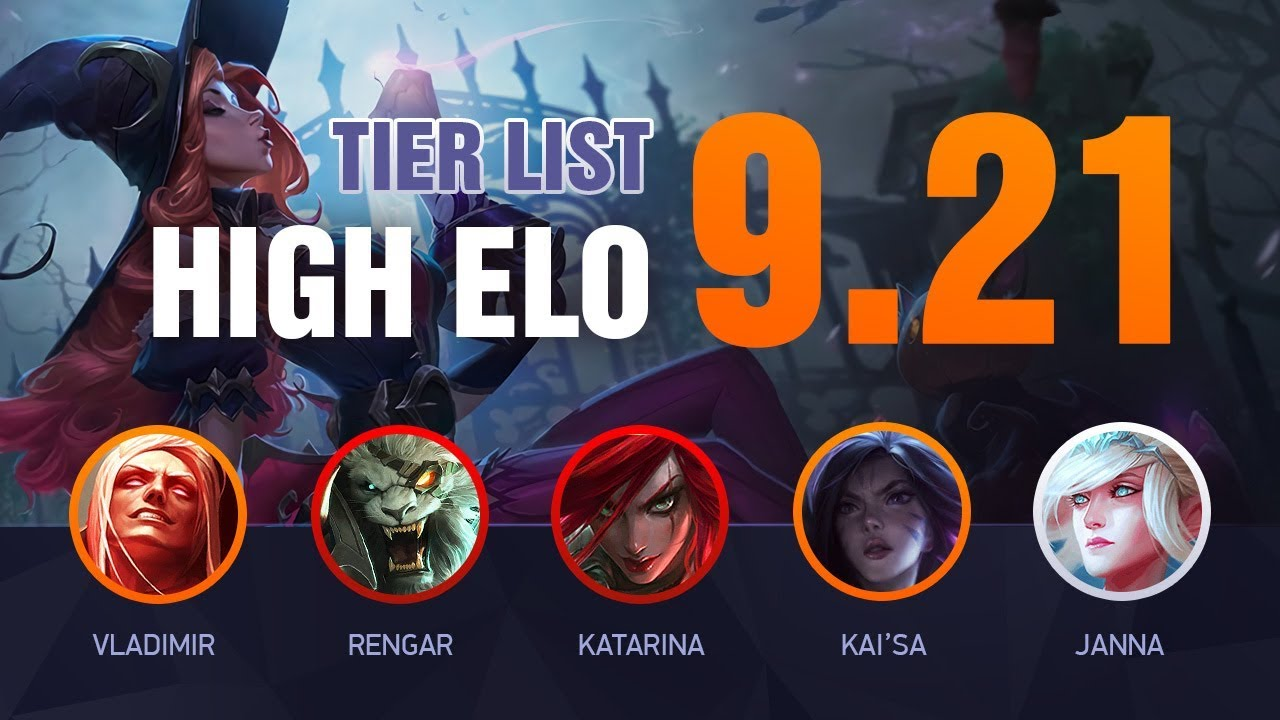 LoL HIGH ELO Tier List Patch 9.21 by Mobalytics - League of Legends thumbnail