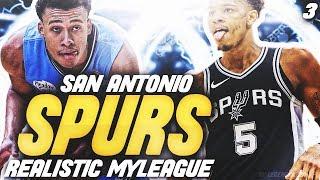 RJ HAMPTON MAKES NBA DEBUT! | NBA 2K20 SAN ANTONIO SPURS MYLEAGUE