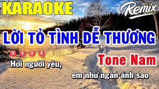 Download lagu Lời Tỏ Tình Dễ Thương Karaoke Tone Nam   Trọng Hiếu