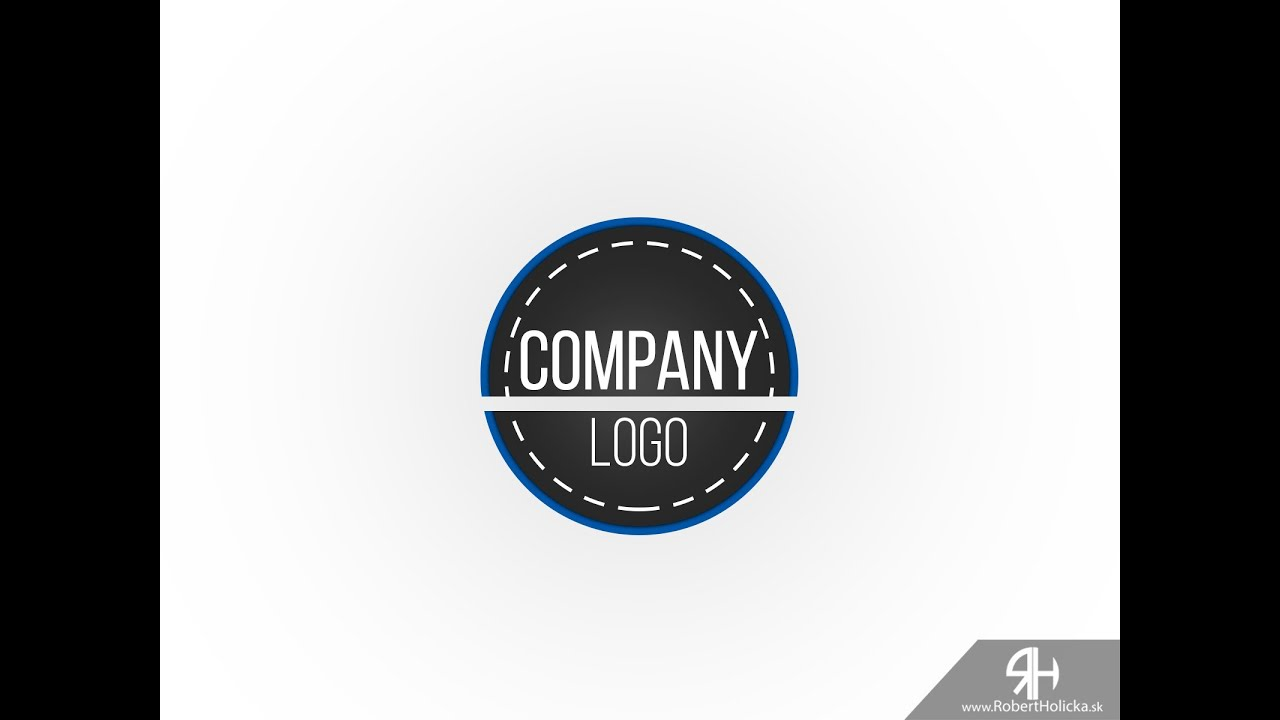 5 minutes create simple company logo in photoshop tutorial youtube