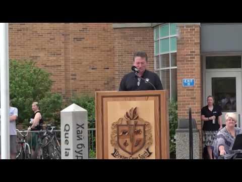 Downers Grove South High School Memorial Peace Garden Dedication 2016