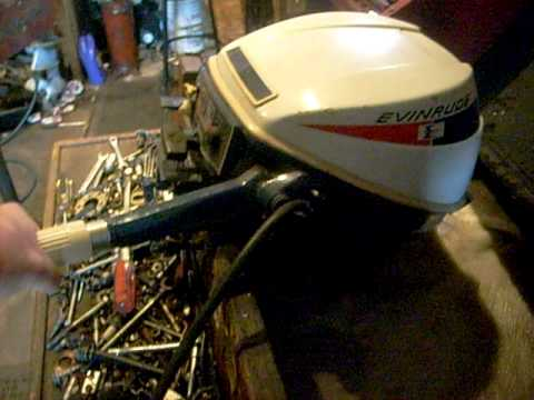 Evinrude Sportwin 9 5hp Outboard Running