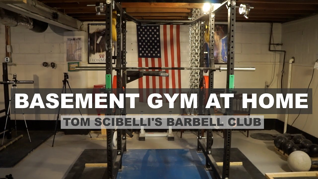 Garage gym tour pando s barbell club youtube - Awesome Rogue Fitness Basement Gym At Home Tom Scibelli Jonathan Walseman Collab Youtube
