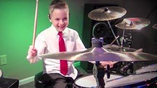FELIZ NAVIDAD (8 year old Drummer) Drum Cover by Avery Drummer Molek