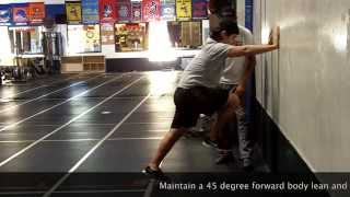 Speed Drills: Wall Drives - Running Form - Wall Marches for Knee Drive
