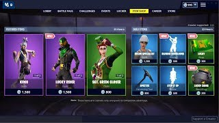 *NEW*Lucky Rider Skin & Sgt. Green Clover Skin Back! Fortnite Item Shop March 17, 2019