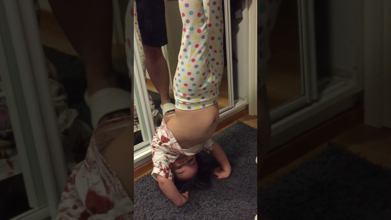 My little girl gymnastics moves and yoga